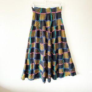 Vintage High waisted Maxi Skirt